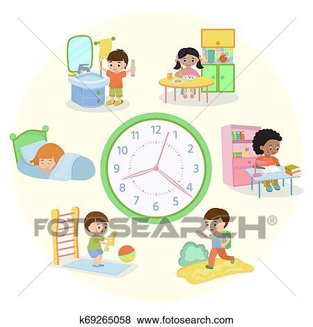 Kid weekly planner. children cute calendar, weeks design for to do list  notes of school schedule vector template. Kid weekly
