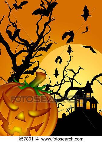 Dessins halloween d coup citrouille chauves souris lune cimeti re pierre tombale - Pierre tombale dessin ...