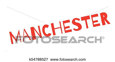 Manchester Rubber Stamp Grunge Design With Dust Scratches Effects Can Be Easily Removed For A Clean Crisp Look Color Is Changed