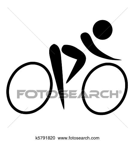 Stock Illustrations Of Cycling Sign K5791820 Search Clipart
