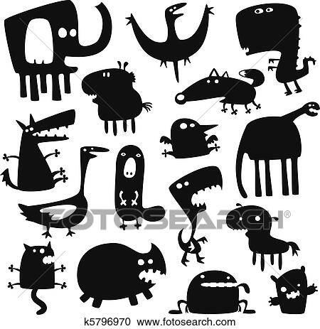 funny animals drawings  Clipart of funny animals k5796970 - Search Clip Art, Illustration ...
