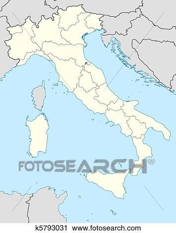 Carte Italie Europe.Italie Carte Clipart
