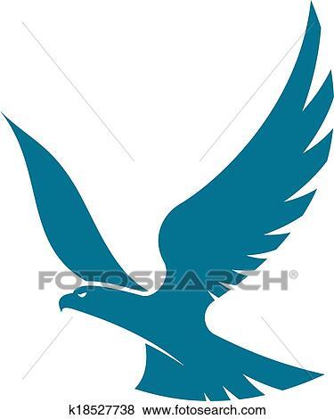 clip art anmutig fliegenden adler k18527738 suche