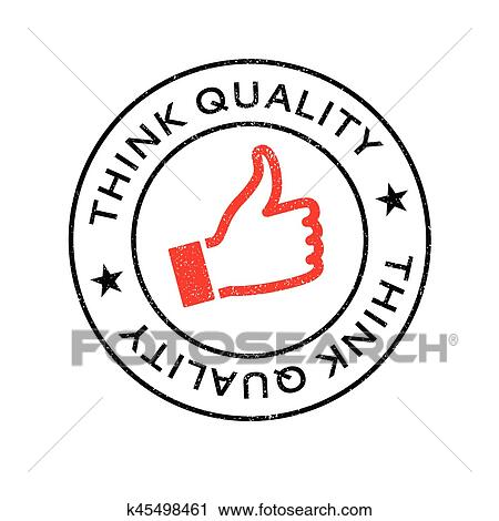Clipart Of Think Quality Rubber Stamp K45498461