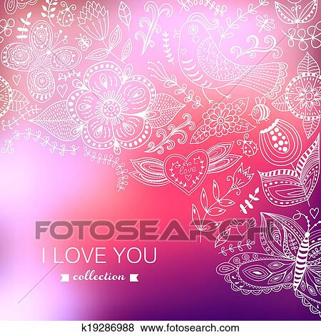 Vector Valentine S Day Background Blurred Template Holiday