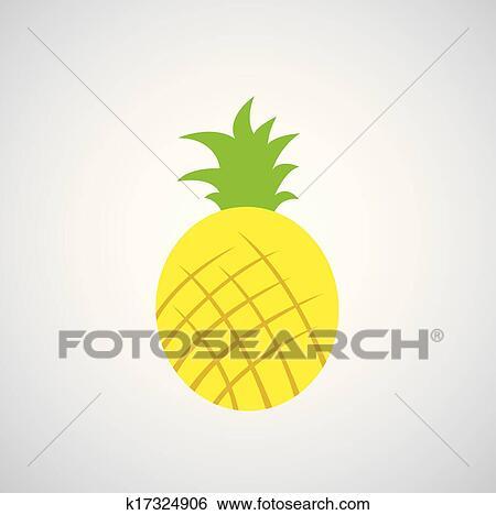 Ananas Vecteur Dessin Animé Clipart