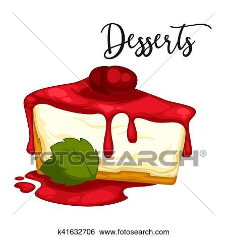 Clipart d licieux doux dessert vecteur dessin anim - Dessert dessin ...