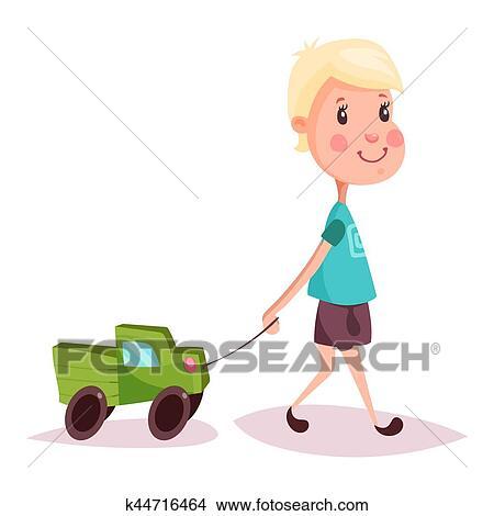 Garçon Ou Enfant Gosse Ou Type à Camion Jouet Ou Camion Clipart