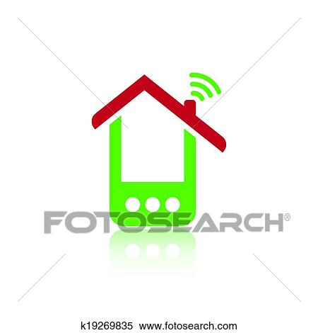 Clipart Of Green Phone House K19269835 Search Clip Art
