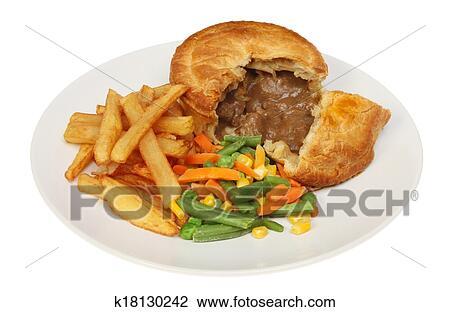 Steak pie Stock Image | k18130242 | Fotosearch