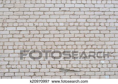 Image - toqué, blanc, grunge, mur brique, textured, fond, taché ...