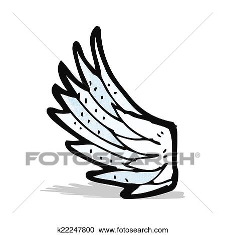 Clipart cartoon angel wing fotosearch search clip art illustration murals drawings