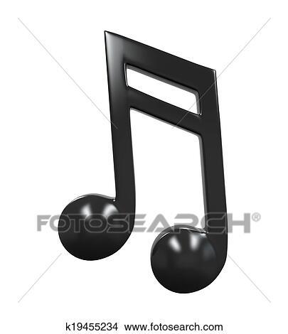 Dessin Note De Musique dessins - note musique, icône k19455234 - recherche de clip arts, d