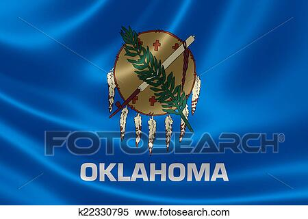 Stock Illustration Of Oklahoma State Flag K22330795 Search Clipart