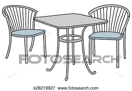 Clip Art Of Small Table And Chairs K28219927