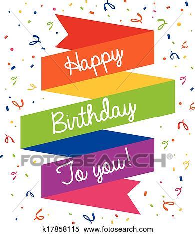 Happy Birthday Greeting Card.Happy Birthday Greeting Card Iskarpa K17858115 Fotosearch