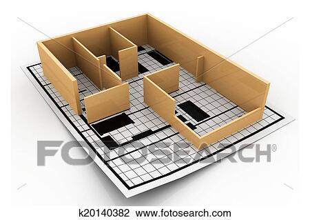 Maison Construction Blueprint Architectural Background Dessin