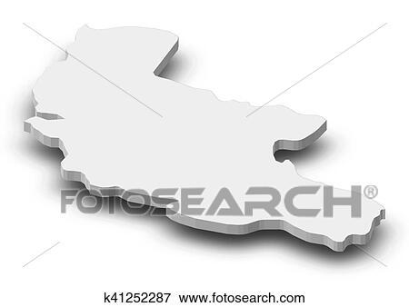 Map Of Kakheti Georgia.Map Kakheti Georgia 3d Illustration Stock Illustration