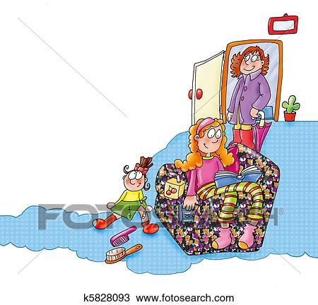 Kresba Pod Domov Od Robota K5828093 Prehľadavaj Klipart