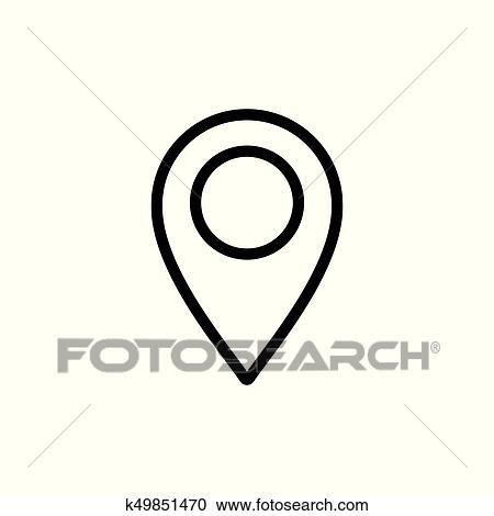 Location, Map, Marker, Pin, Clipart - Google Map Icon White - Free  Transparent PNG Clipart Images Download