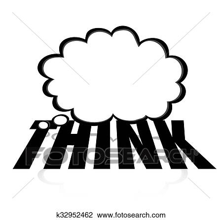 clip art of think thought cloud word creative imagination brainstorm rh fotosearch com brainstorming clipart images