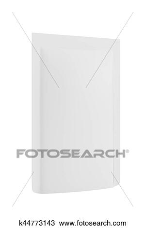 Drawing Of White Blank Foil Food Doy Pack Stand Up Pouch Bag