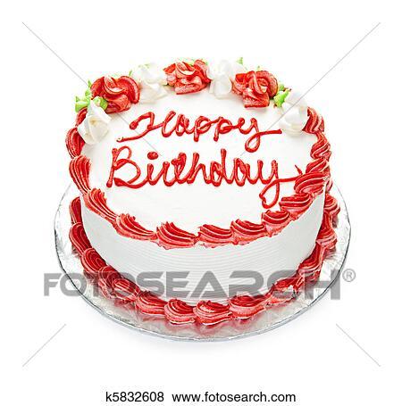 Birthday Cake With Photo.Birthday Cake Standartinės Nuotraukos K5832608 Fotosearch