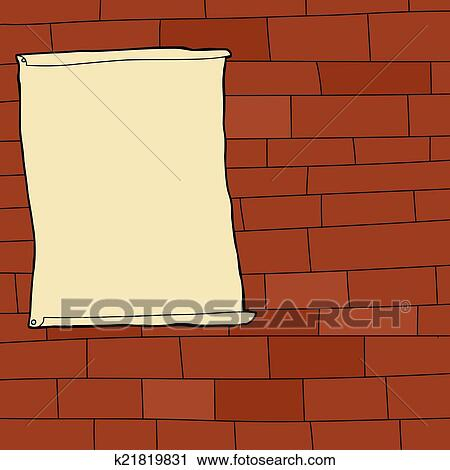 Clipart of Blank Poster on Wall k21819831 - Search Clip Art ...