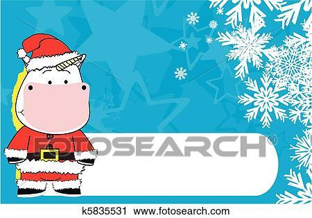 Clipart Licorne Bebe Dessin Anime Noel Backgroun K5835531