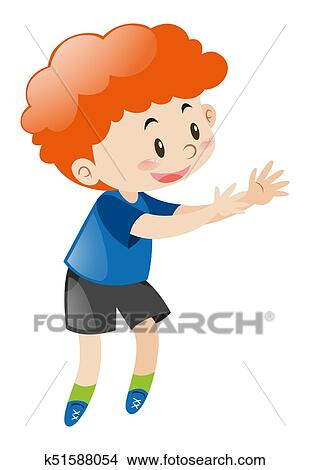 Little Boy With Red Curly Hair Clipart K51588054 Fotosearch