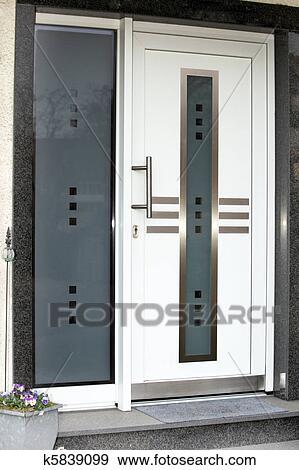 Favorit Modernes, eingangstür, mit, glas, scheiben Stock Foto | k5839099 EK86