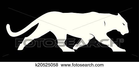 clip art of panther silhouette vector clipart k20525058 search