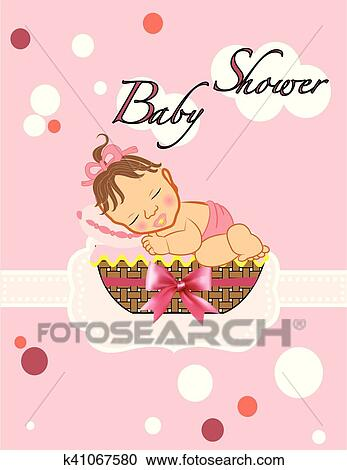 Baby Shower Girl Clipart K41067580 Fotosearch