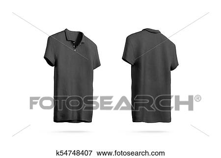 Picture of blank black polo shirt mockup isolated front back side blank black polo shirt mockup isolated front and back side view 3d rendering empty sport t shirt uniform mock up plain clothing design template maxwellsz