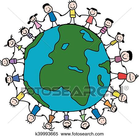 clipart of children around the world k39993665 search clip art rh fotosearch com