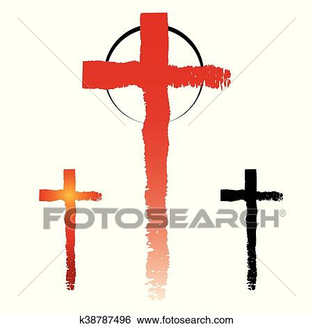Clip Art Of Christianity Cross Symbols K38787496 Search Clipart
