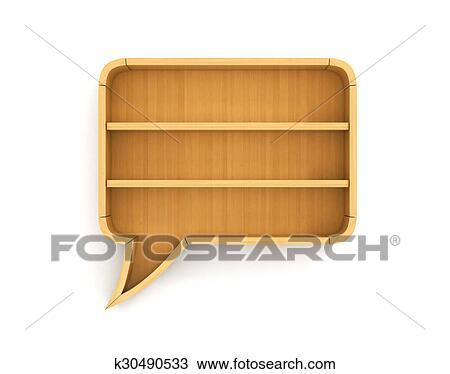 Empty Bookshelf In Form Of Dialog Science About Human Have No Argument For Speaking A Knowledge