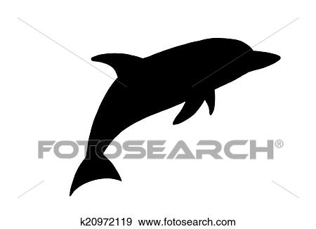 stock illustration of dolphin silhouette k20972119 search vector