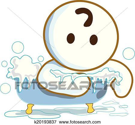 Clip Art Dusche Bad In Dass Badewanne K20193837 Suche