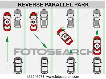 Gegenteil, parallel, parking. Clip Art | k51246978