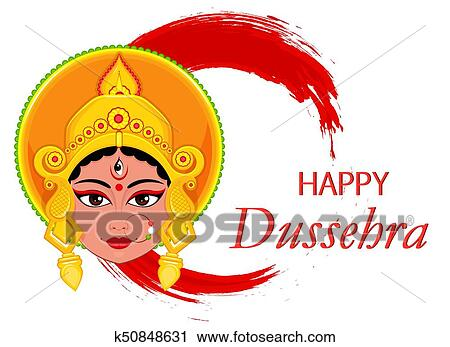 Clipart of happy dussehra greeting card maa durga face on abstract clipart happy dussehra greeting card maa durga face on abstract background for hindu festival m4hsunfo