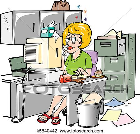 clipart of sick at work k5840442 search clip art illustration