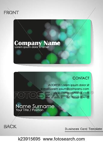 Clipart of a gradient colored business card k23915695 search clip a gradient colored business card template reheart Image collections