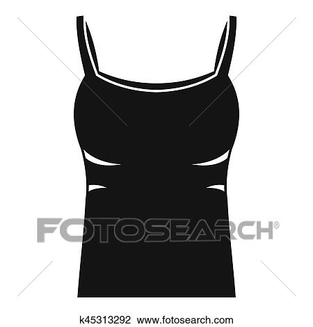 blank women tank top icon simple style drawing k45313292 fotosearch https www fotosearch com csp585 k45313292