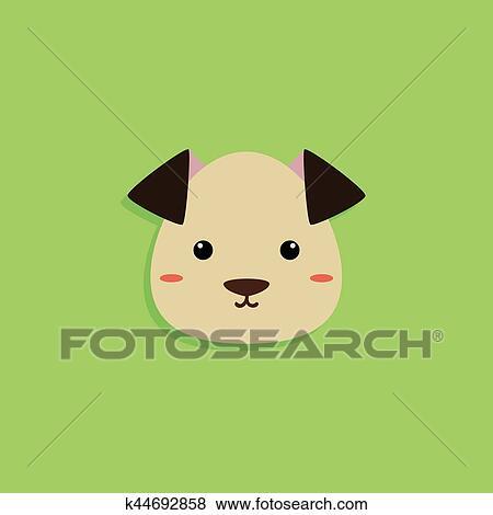 Cane cartone animato faccia clip art k44692858 fotosearch