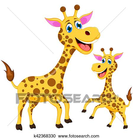 Dessin Girafe Rigolote banque d'illustrations - rigolote, girafe, dessin animé k42368330