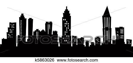 Atlanta Cartoon Skyline Stock Illustration K5863026 Fotosearch