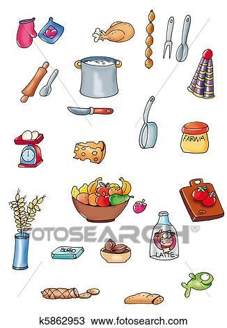 Dibujo cosas cocinar k5862953 buscar clip art ilustraciones de murales imagenes y - Cosas para cocinar ...