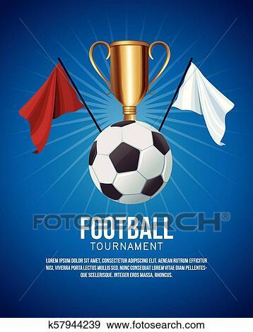 Football Tournament Banner Clip Art K57944239 Fotosearch