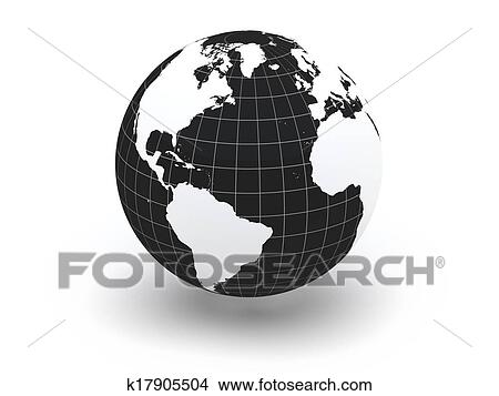 World Map 3d View.Stock Photo Of Globe Earth And World Map 3d K17905504 Search
